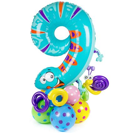 Цифра из фольгированного шарика