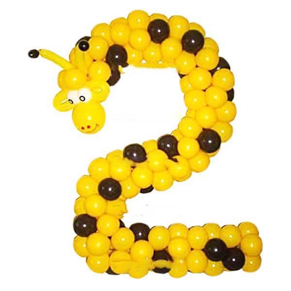Цифра из латексных шаров
