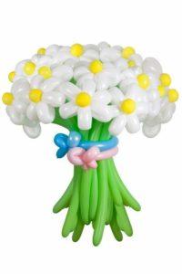 """Цветы из шаров""""Ромашки белые"""""""