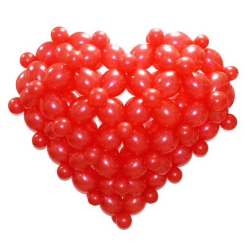 3D Сердце из воздушных шаров.