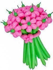 """Цветы из шаров """"Ромашки фуксия"""""""