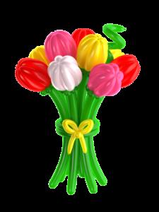"""Цветы из шаров """"Тюльпаны ассорти"""""""