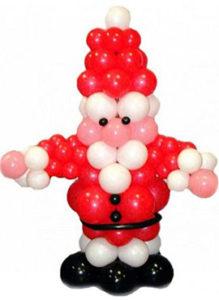 """Фигура из воздушных шаров """"Дед Мороз"""""""