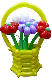 Корзинка с цветами №9