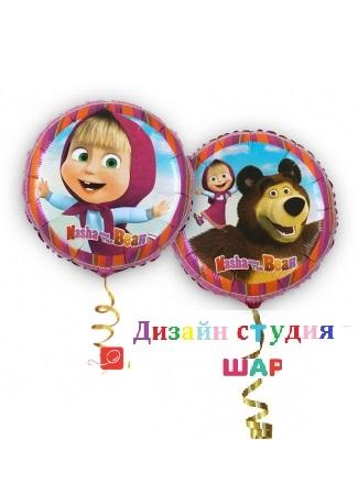 Фольгированные шарики с гелием «Маша и медведь»