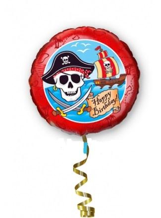 """Фольгированный шарик с гелием «""""С Днем Рождения. Пираты""""»"""