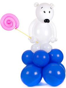 """Фигуры из шаров """"Мишка с леденцом"""""""