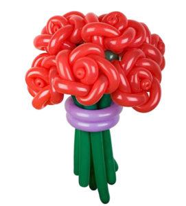 """Букет из шаров """"Красные воздушные розы"""""""