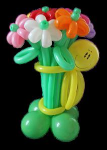 Улыбка с букетом из11 воздушных цветов