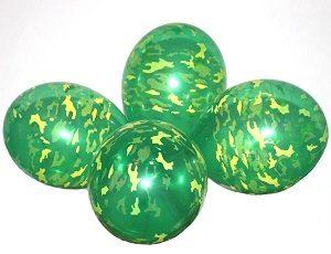 """Шары круглые с рисунком - Хаки кристалл зеленый 12"""""""