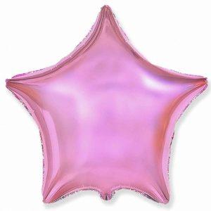 Фольгированный шар звезда светло-розовая