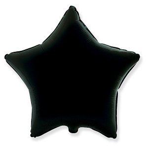 Фольгированный шар звезда черная
