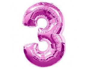 Фольгированный шар цифра три (фукция)