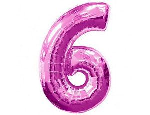 Фольгированный шар цифра шесть (фукция)