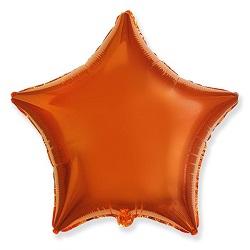Фольгированный шар звезда оранжевая (коралловая)