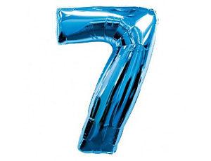 Фольгированный шар - цифра семь