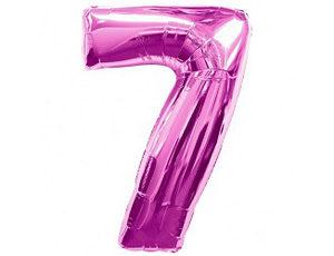 Фольгированный шар - цифра семь (фукция)
