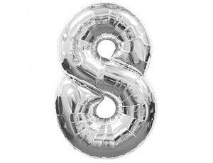 Фольгированный шар - цифра восемь