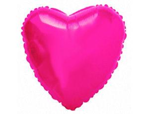 Фольгированный шар - сердце малиновое