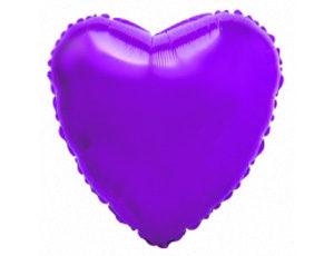 Фольгированный шар - сердце фиолетовое