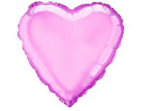 Шар сердце светло-розовое