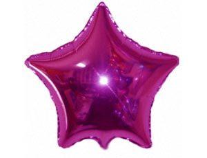 Фольгированный шар - Звезда малиновая