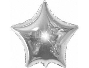 Шар с гелием — Звезда серебряная 18″