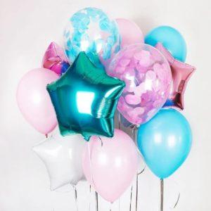 Фольгированные и латексные шаров с гелием