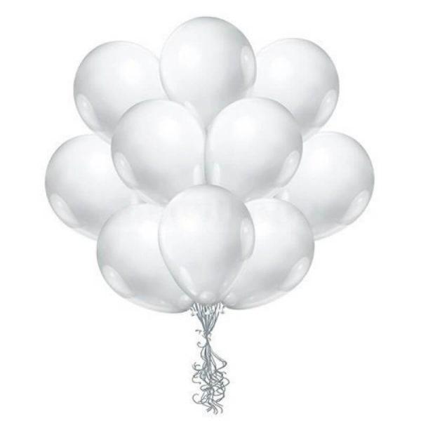 Латексные шары с гелием Белые