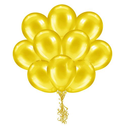 Латексные шары с гелием Желтые