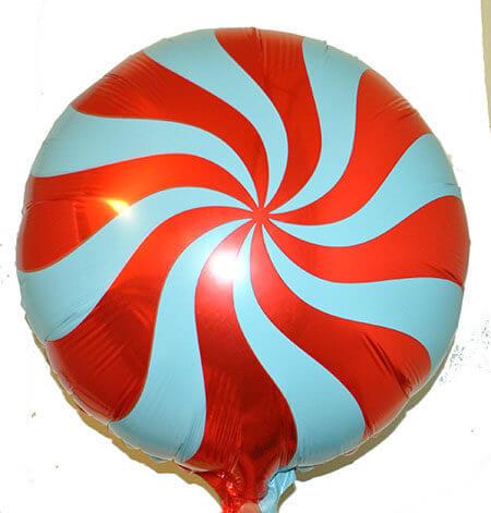 Шар с гелием — Круг спираль (красный) 18″