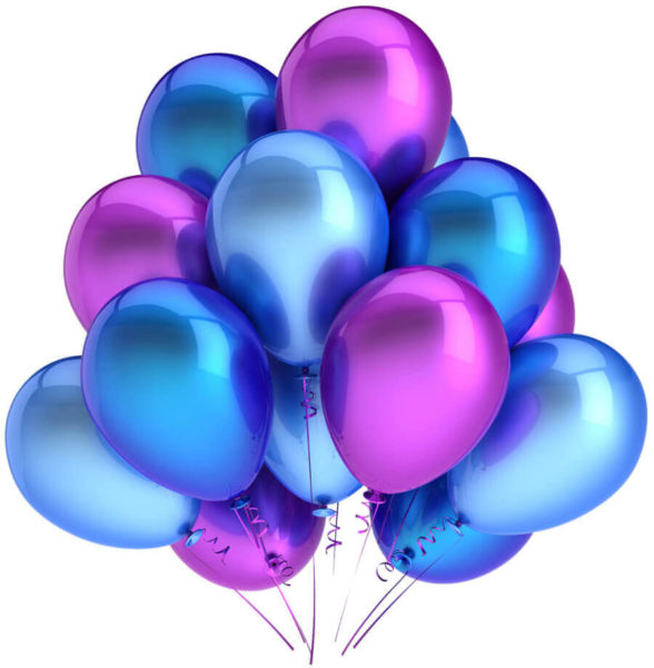 Латексные шары с гелием — Хром Облако №6