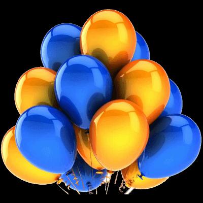 Латексные шары с гелием — Хром Облако №8
