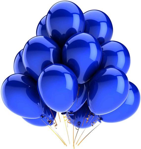 Латексные шары с гелием — Хром Синие
