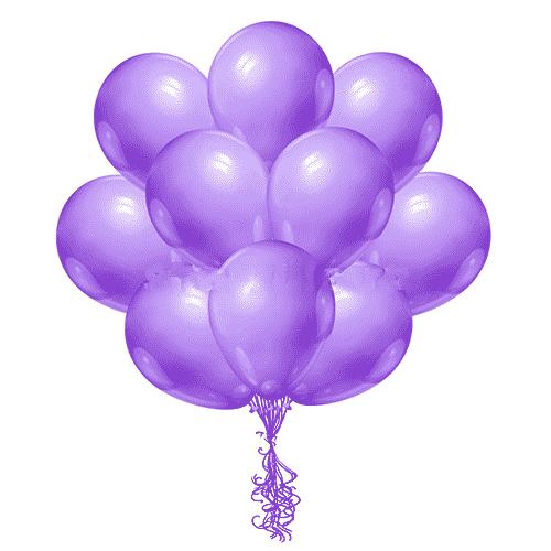 Латексные шары с гелием Фиолетовые