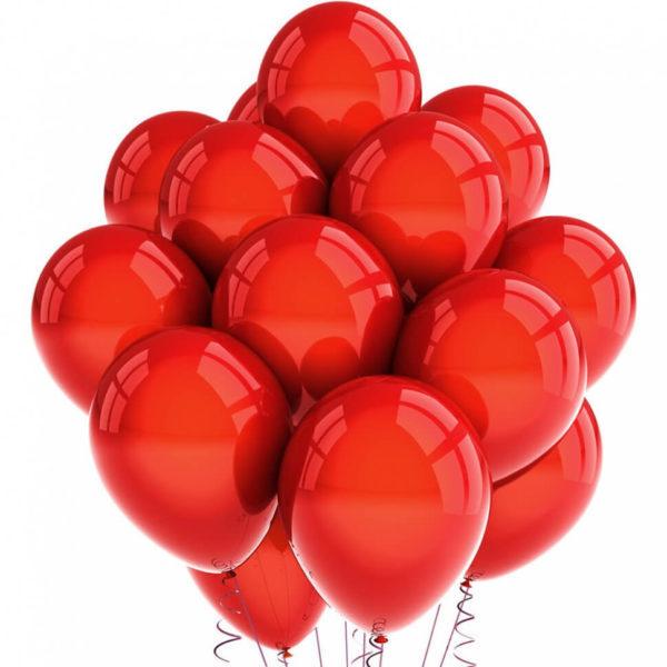 Латексные шары с гелием — Хром Красные