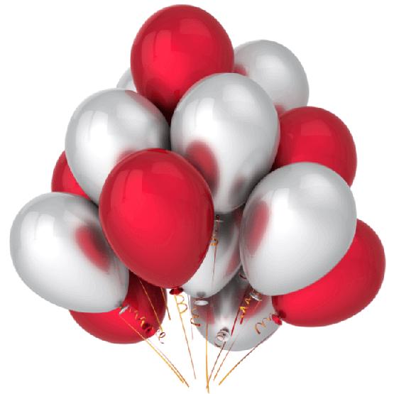 Латексные шары с гелием —  Хром Облако №4