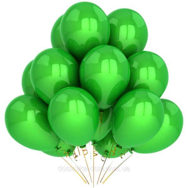 Латексные шары с гелием Зеленые