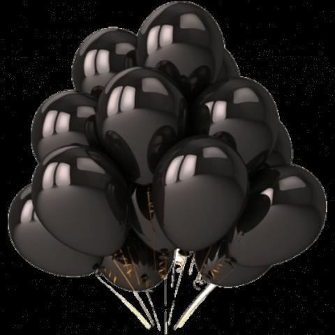 Латексные шары с гелием Черные