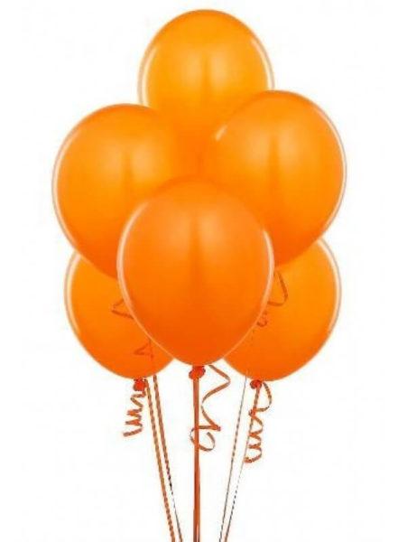 Латексные шары с гелием Оранжевого