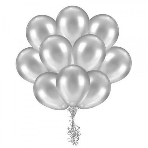 Латексные шары с гелием Серебро
