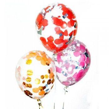 Латексные шары с конфетти — (ассорти) 12″