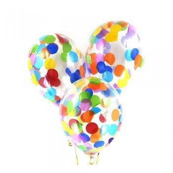 Латексные шары с конфетти — (ассорти крупные) 12″
